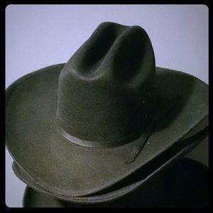 NWOT Cowboy Hat Black Faux Felt Unisex